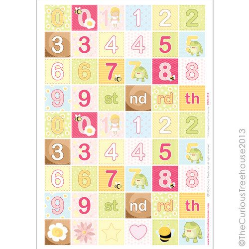 Fairy A4 number Sheet Craft Cut Up Digital by thecurioustreehouse, £1.40