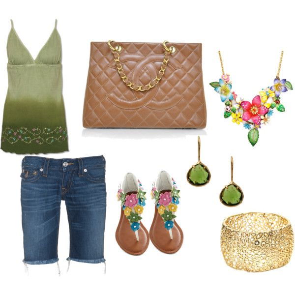 Green/Flower Summer, created by jessicawhite on Polyvore