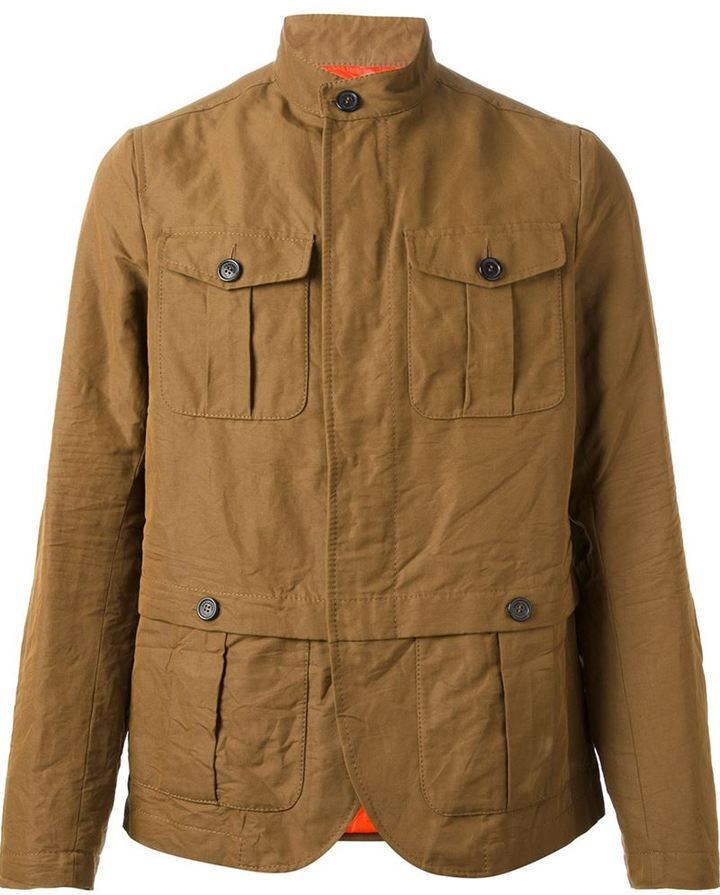 34b6aa02 Tobacco Military Jacket by DSquared. Buy for $1,189 from farfetch.com