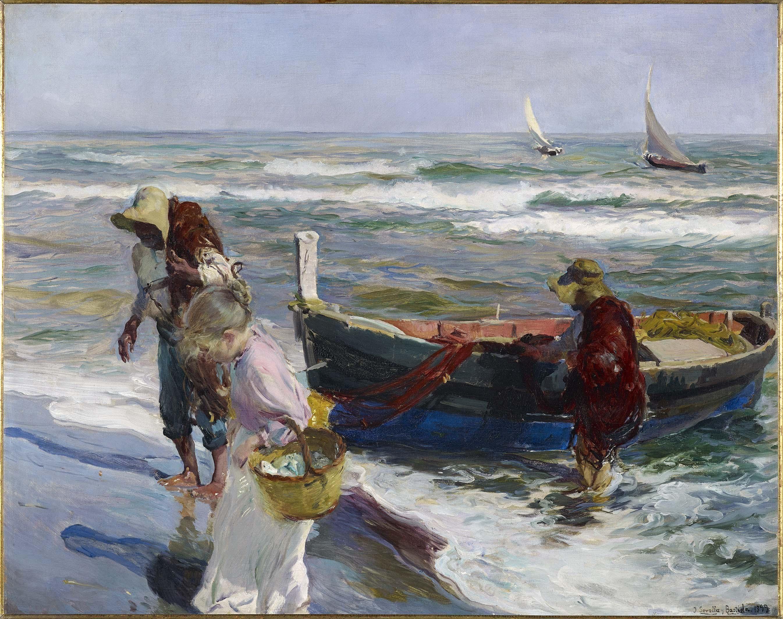 Sorolla i bastida joaqu n llegada de la pesca painting - Galeria de arte sorolla ...