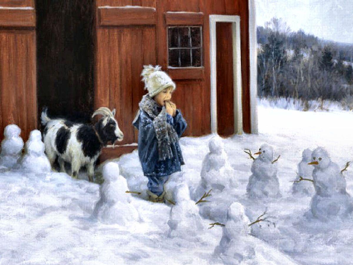 Barn Patrol Robert Duncan Charming Children Bless Beasts Babies Art