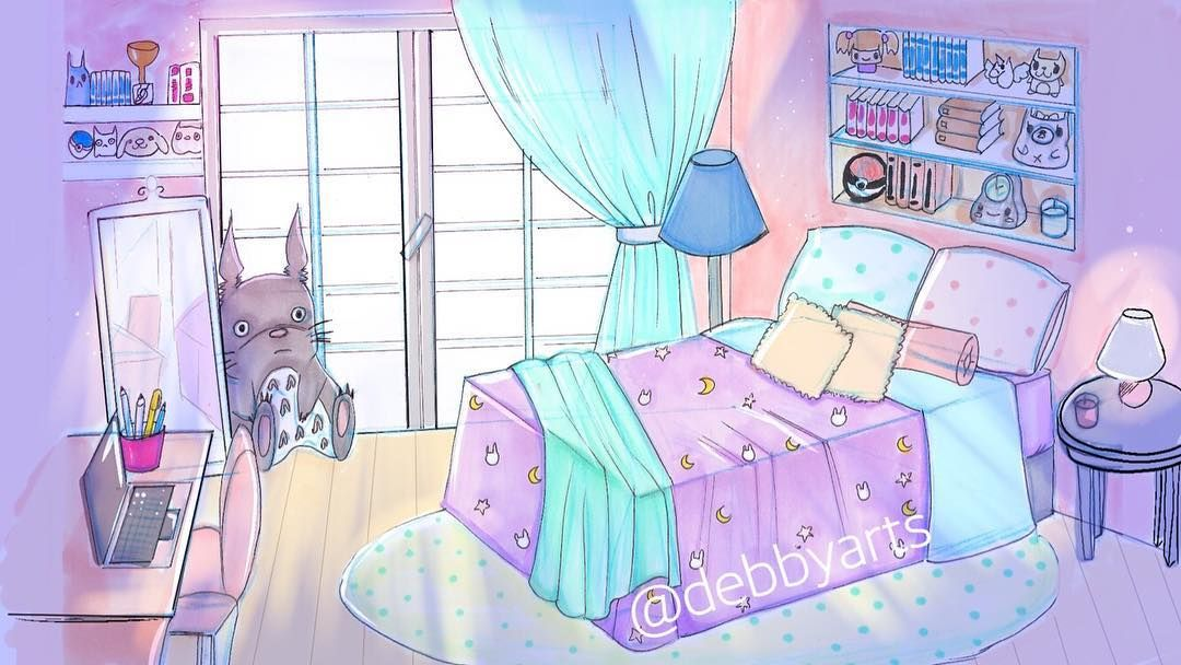 Cute Room For Background See The Video Link In Bio Debbyarts Anime Manga Draw Art Concept Art Art Design Bad Kids