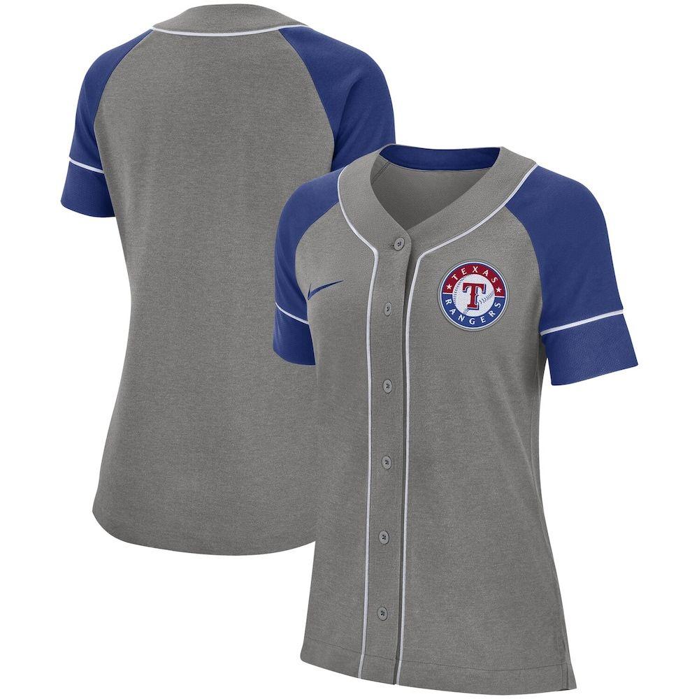 Women S Nike Gray Texas Rangers Classic Baseball Jersey Baseball Jerseys Baseball Outfit Nike Women