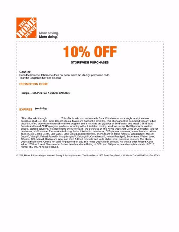Each Bid Is For 2 Official Home Depot 10 Off Coupons Emailed Save Up