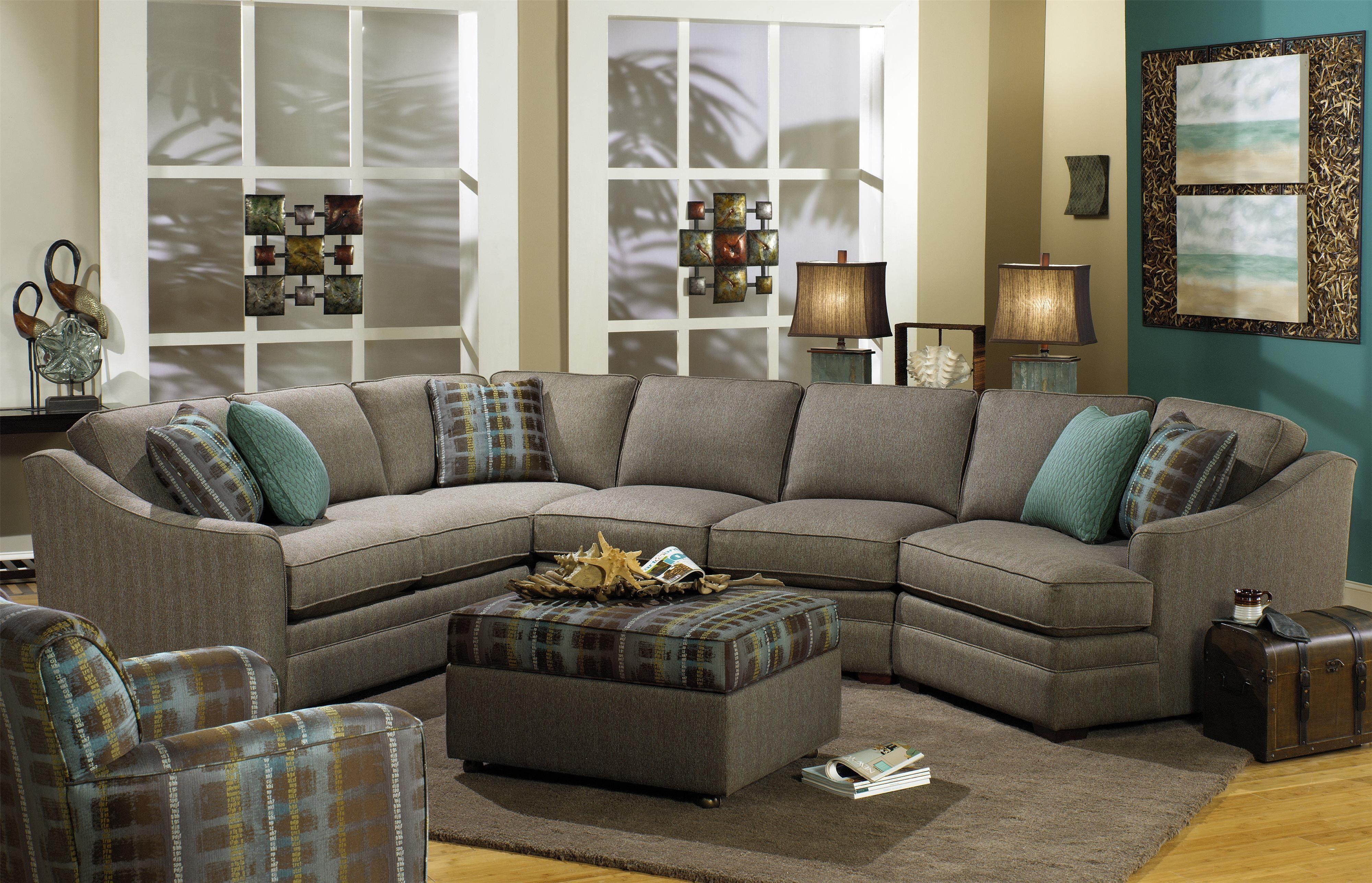 Custom Sectional Sofa Chicago Three Cushion With Chaise Cuddler Penaime