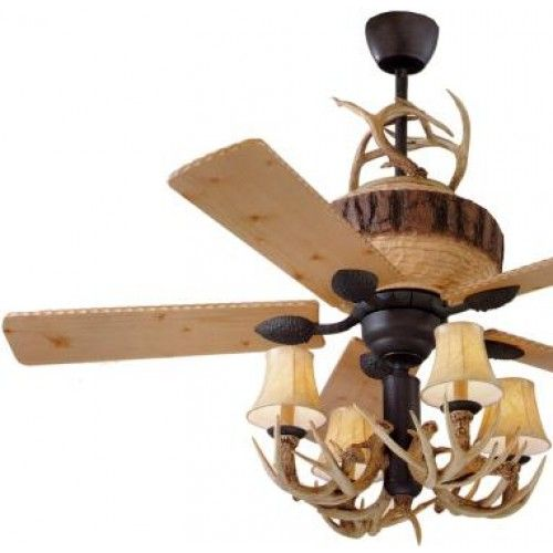 Antler Ceiling Fan Get From Old House
