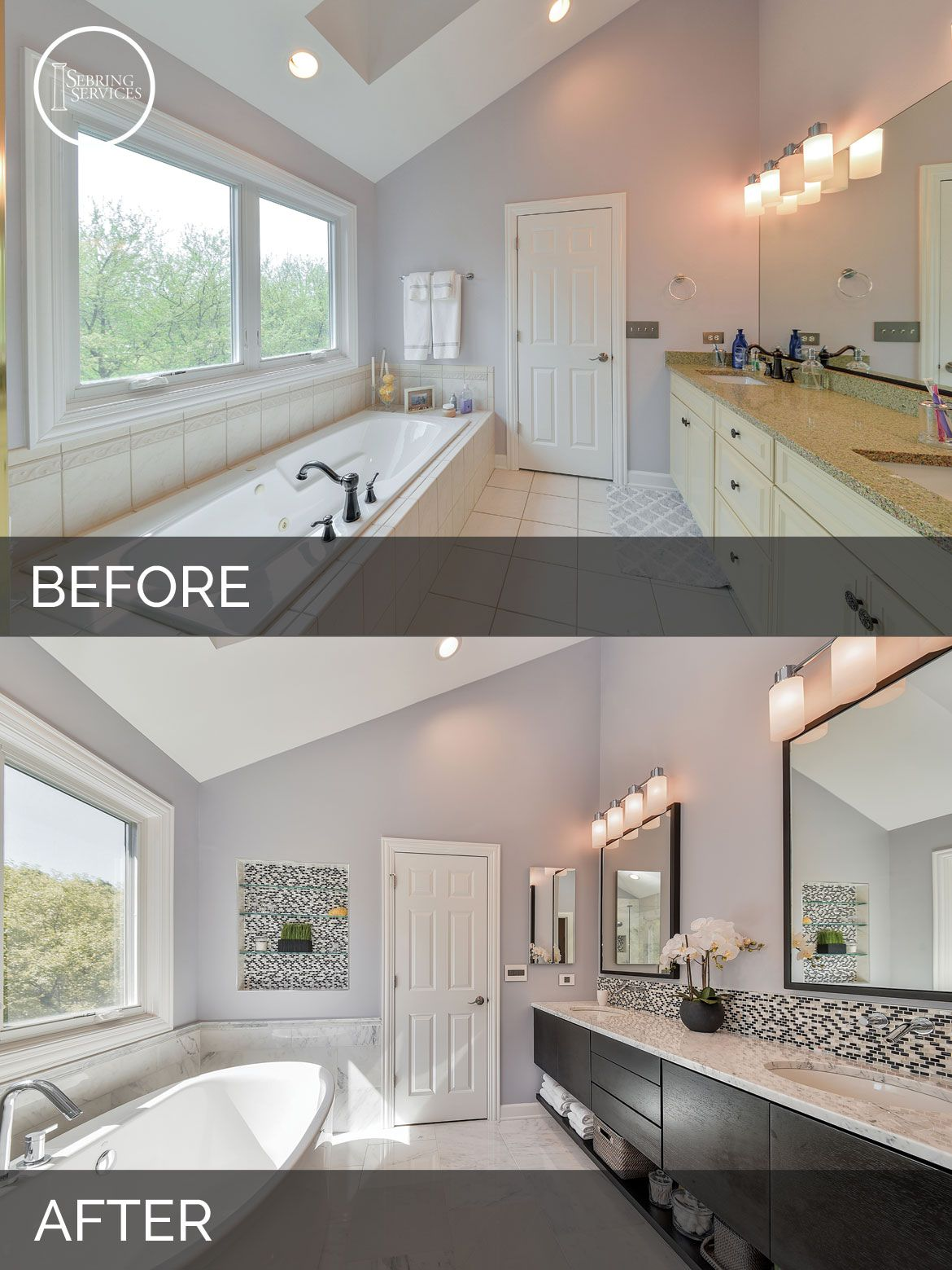 Doug natalies master bath before after pictures in