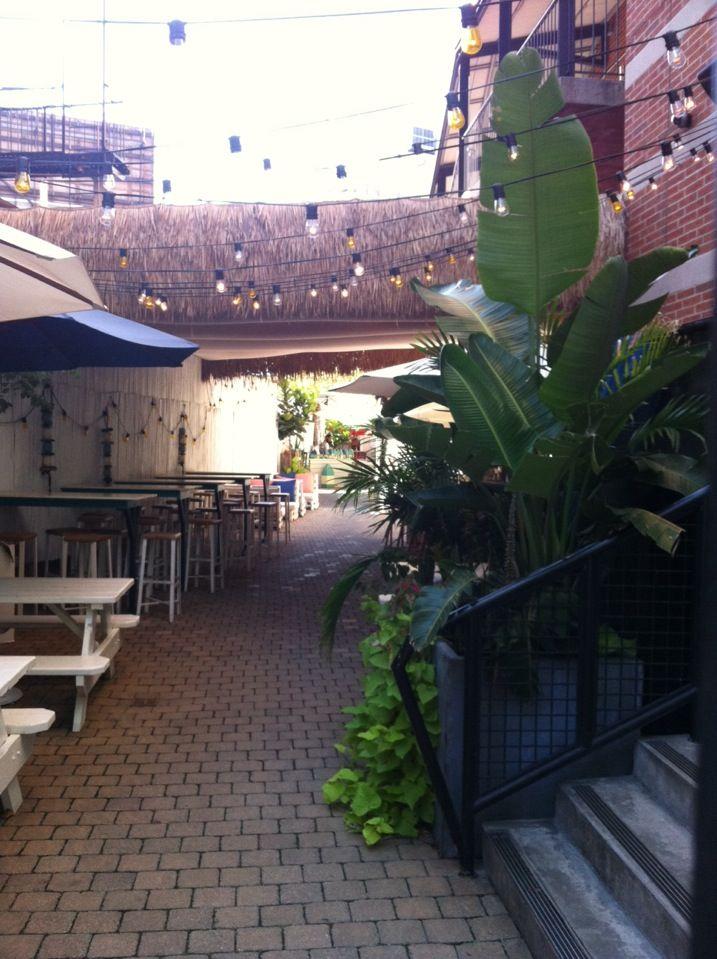 Soho Grand Hotel Rooftop Gilligan S The Soho Grand S Outdoor Ode To Beach Booze Pizza Soho Grand Hotel Soho Grand Outdoor Entertaining Spaces