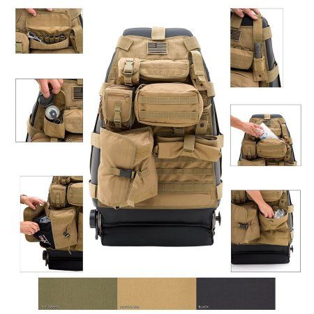 Smittybilt 5661024 GEAR Seat Cover Coyote Tan Front