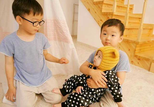 Daehan Minguk with a baby 2