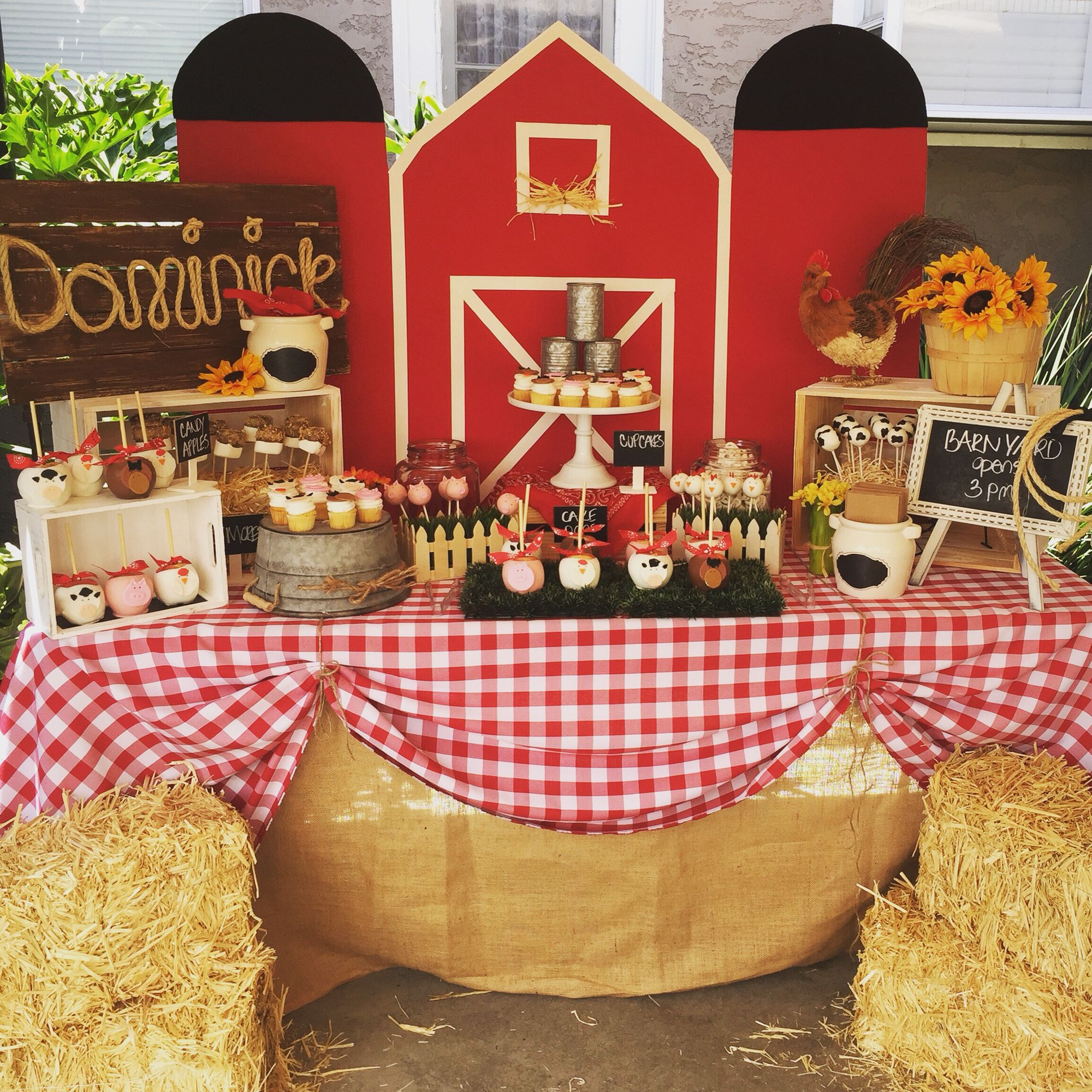 Barnyard Dessert Table By Bizzie Bee Creations
