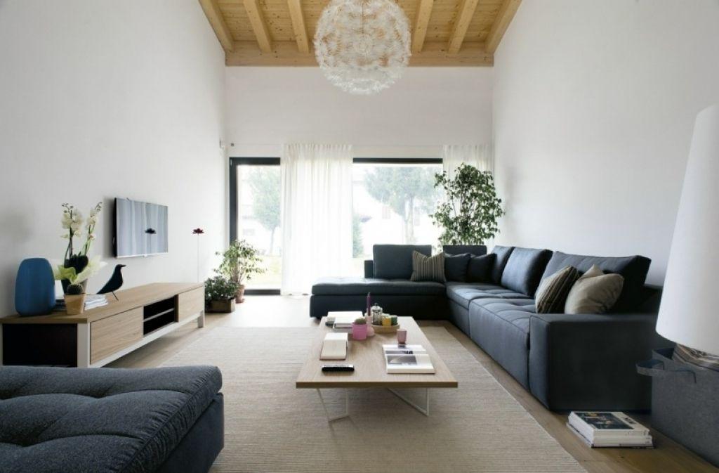 moderne wohnzimmer couch moderne wohnzimmer sofa blaugrau lounge ...