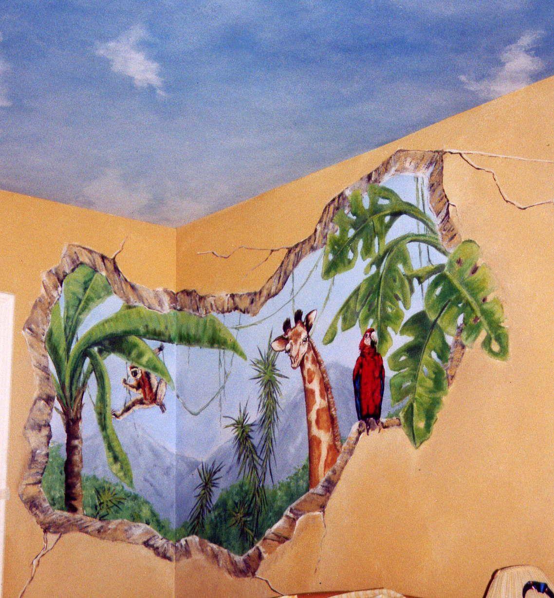 Jungle Wall Mural Painted By Anibus Studios Anibus Studios