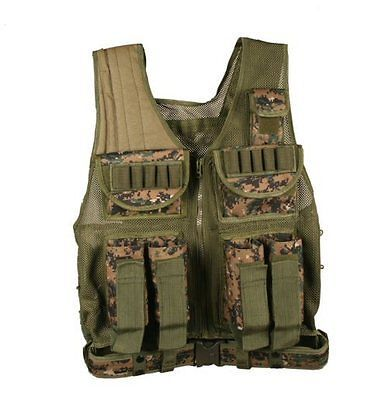 Vests 36284: Marpat Woodland Digital Camo Paintball Armor Pod Gear All Weather Battle Vest -> BUY IT NOW ONLY: $48.99 on eBay!