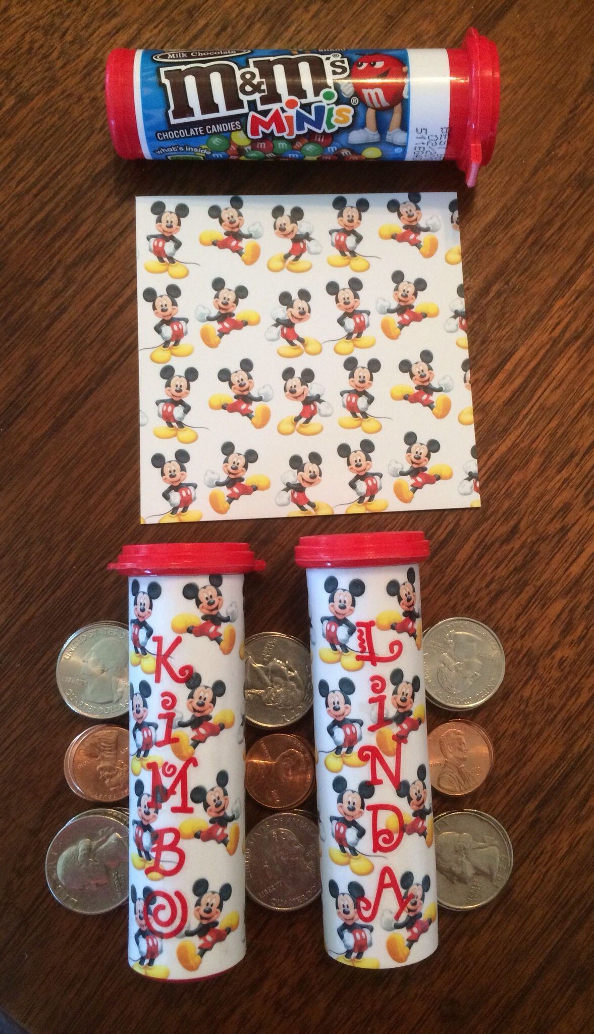 Scrapbook paper and stickers - Disney Coin Container Modge Podge M M Tube Scrapbook Paper Letter Stickers Will Hold One Roll