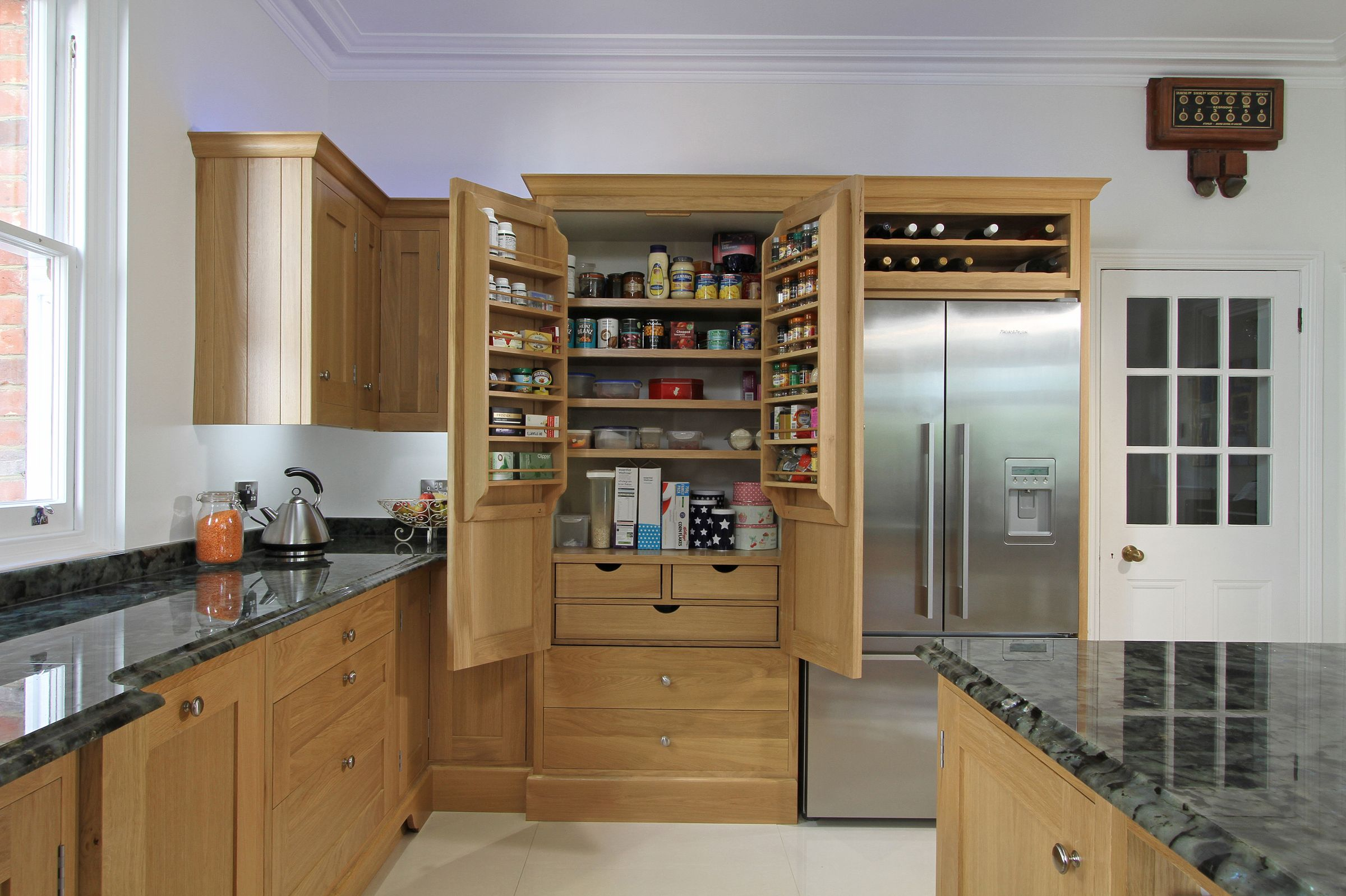 Here you can see a bespoke pantry