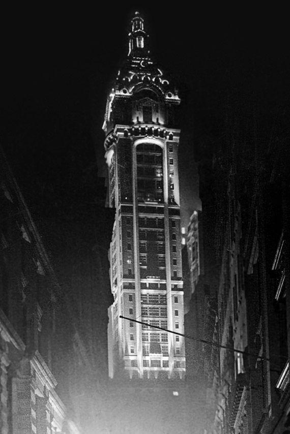 1908 Singer Building Nightfall