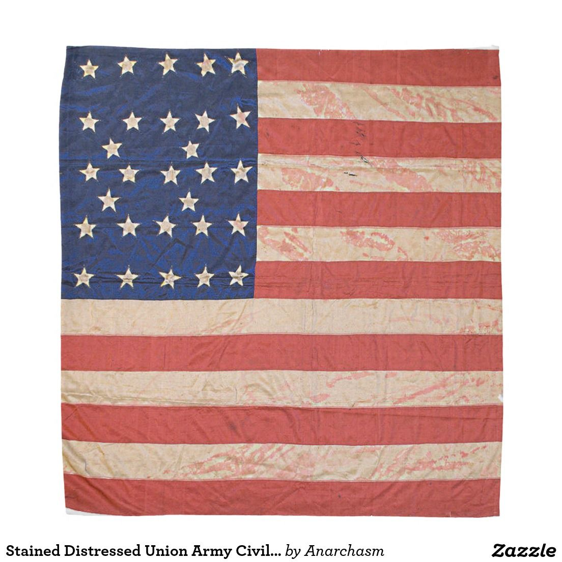 Union Army Civil War Flag Stained Distressed Bandana Zazzle Com Civil War Flags War Flag Union Army