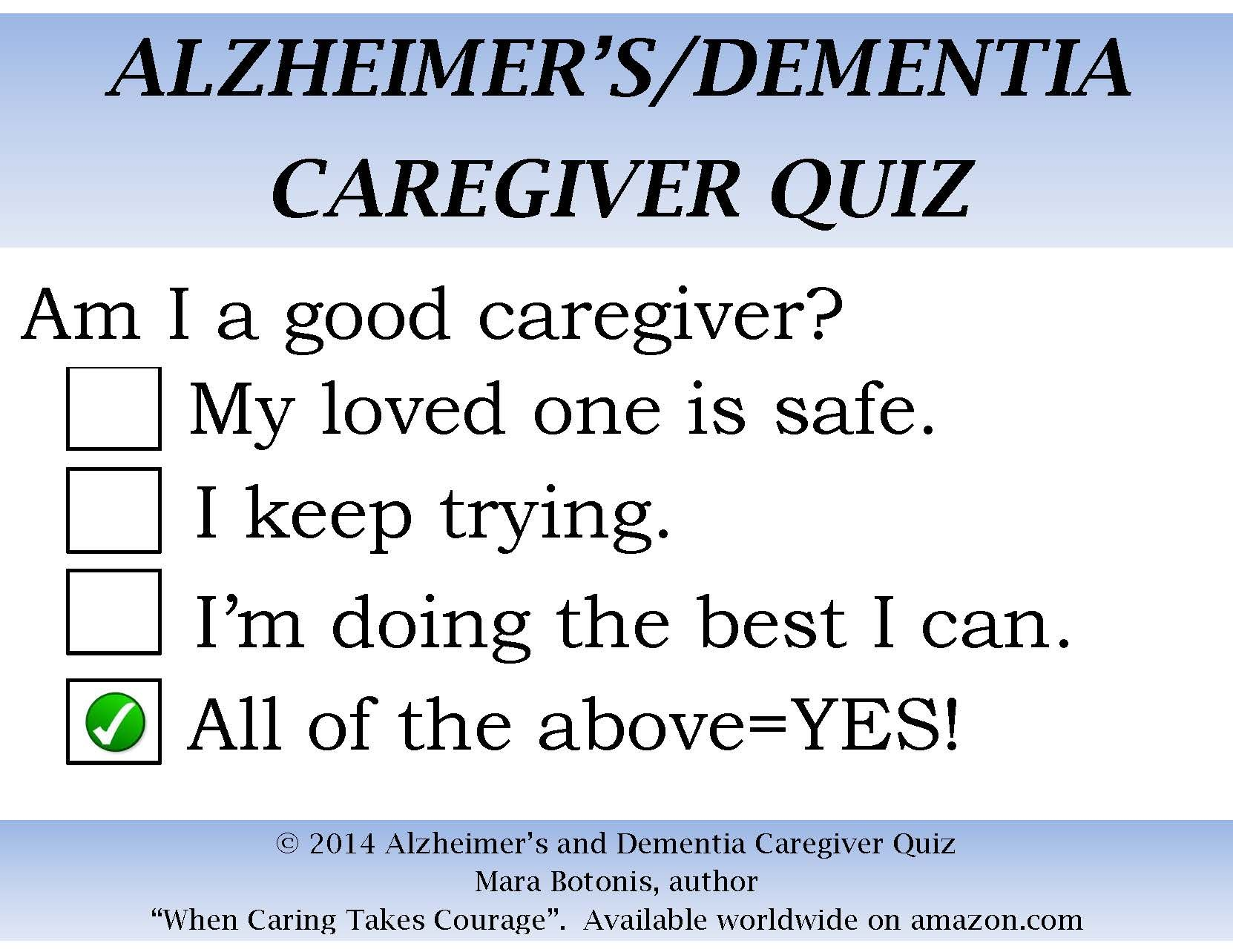 Quotes Quiz Alzheimer's And Dementia Caregiver Quiz  Alzheimer's And Dementia