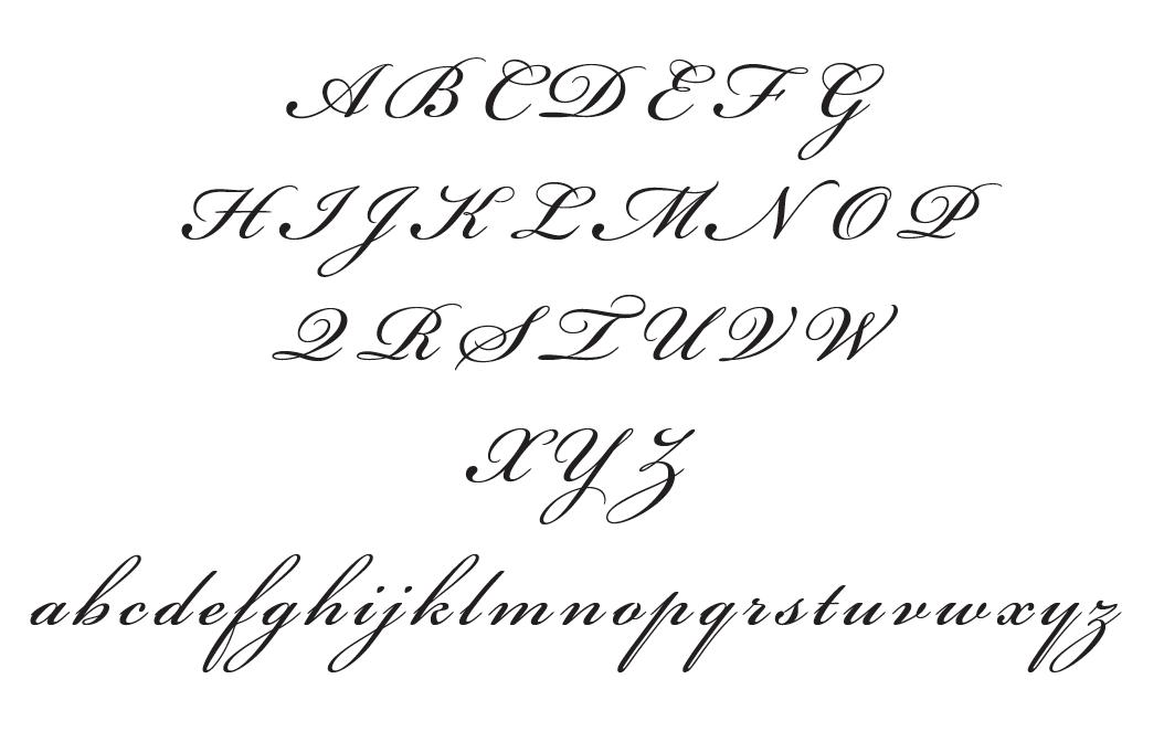 Initial Caps And Lowercase For Bickham Script Script Cursive Writing Hand Lettering Alphabet