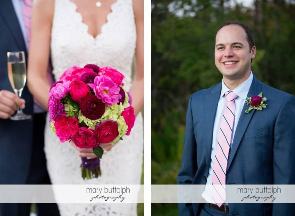 Bridal bouquet, bright and colorful, rich tones