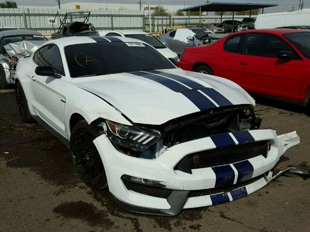 Ford mustang shelby already appears at salvage auction