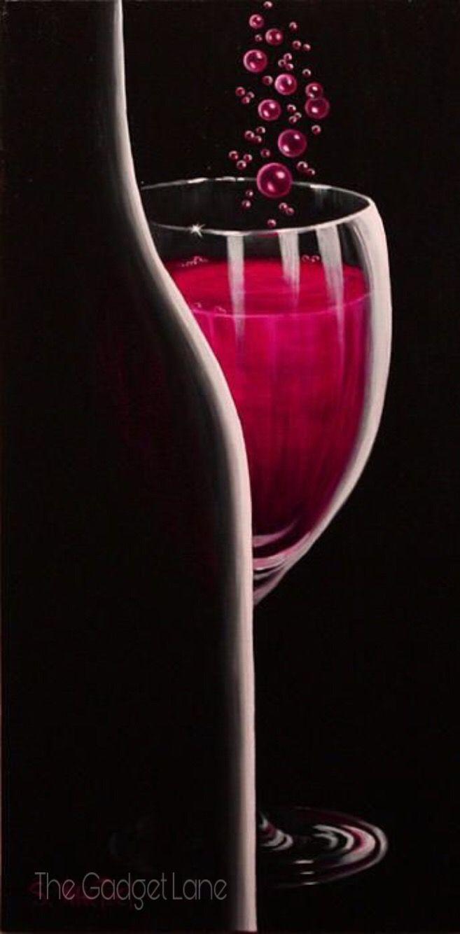 Pin By Savani On Savani S Choice Wine Painting Wine And Canvas Wine Art