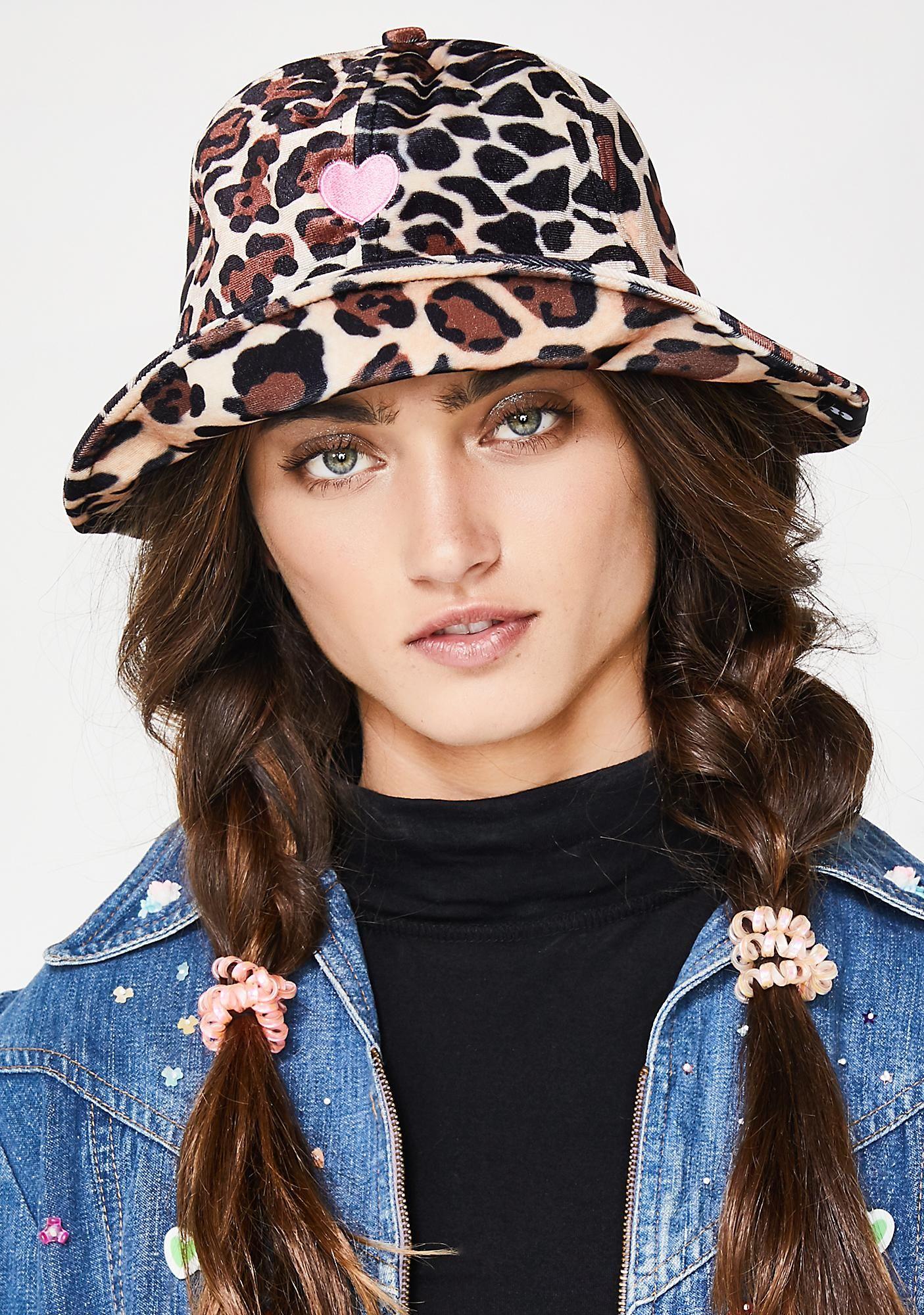 Lazy Oaf Leopard Bucket Hat  37ba3673337e