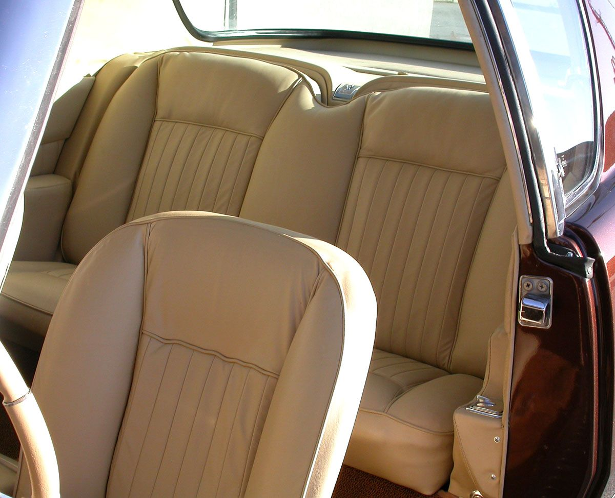 Custom Leather Interior In Buttercream Luxury Ride Studebaker Avanti Auto Restoration