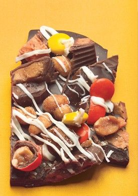 Halloween peanut butter and toffee candy bark from Bon ...