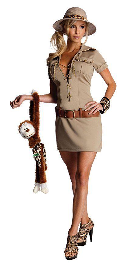 Secret Wishes Womens Tarzan Hunter Jane Costume Khaki Large