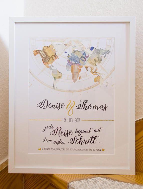 Cash Gift World Card Wedding Every Journey begins ...