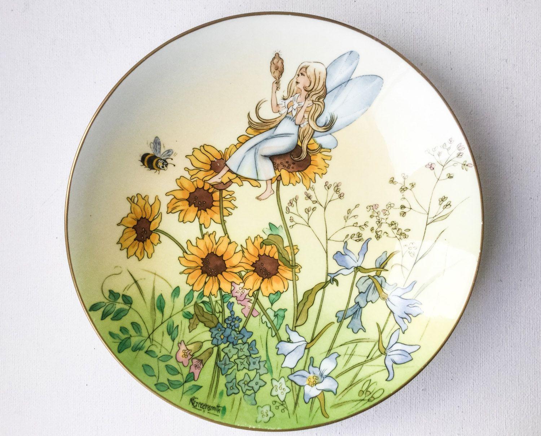 Decorative Fairy Plate, Fairyland Four Seasons, Basking in High ...