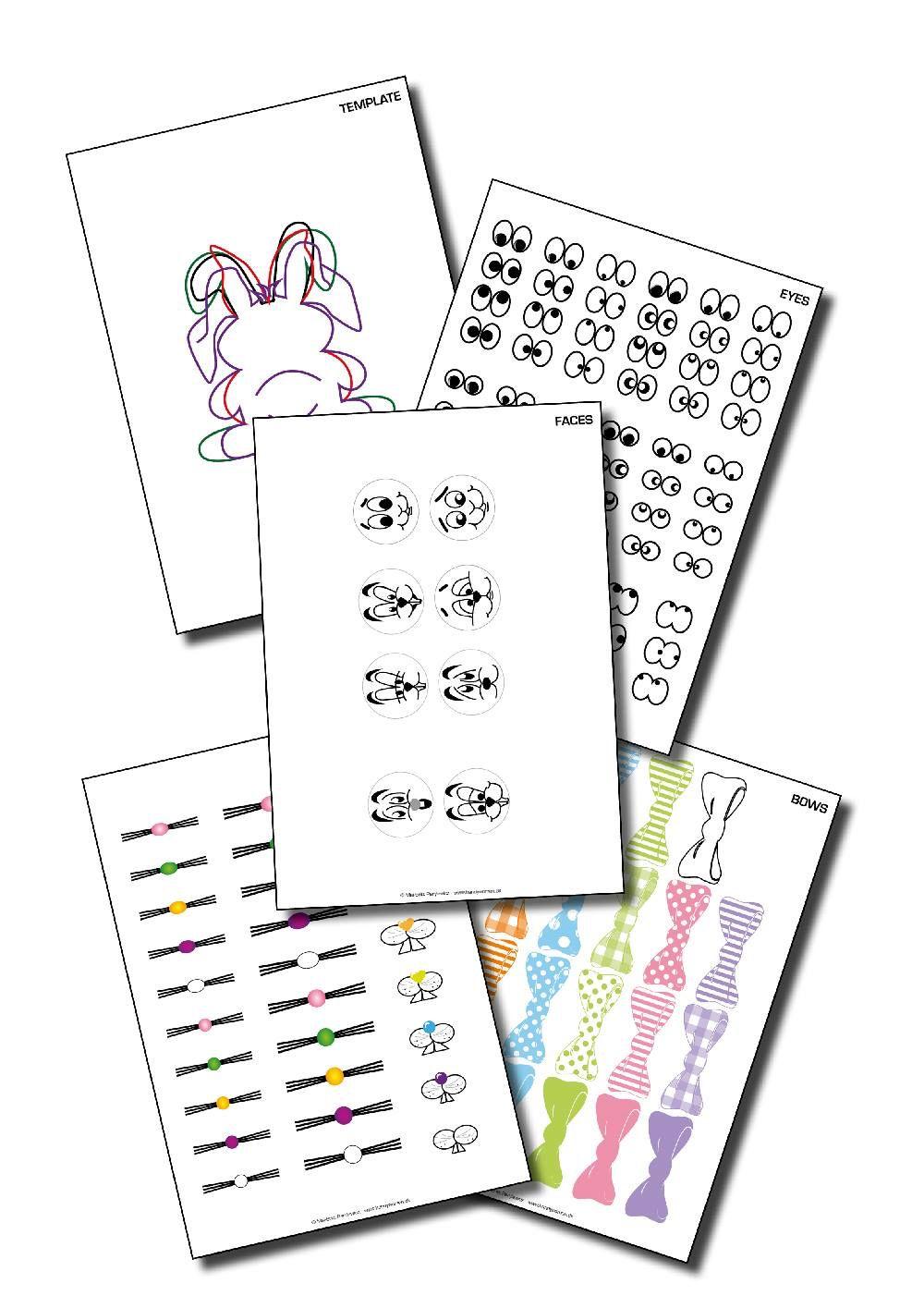 E-bogen pynt i papir og pap - påskelige påfund.   #parylewiczdesign #påskepynt #påskehare #sjovtforbørn #hyggeligfritid