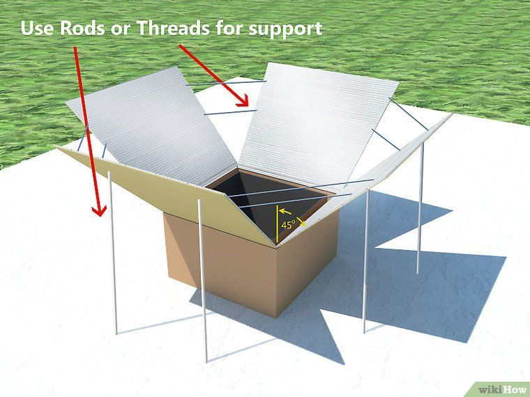 comment fabriquer et utiliser un four solaire wikihow cologie pratique pinterest. Black Bedroom Furniture Sets. Home Design Ideas