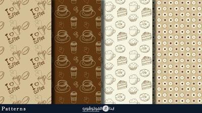 تحميل مجموعة باترن من ورق القهوة للفوتوشوب مجانا Download Coffee Paper Patterns For Photoshop Pattern Paper Photoshop Backgrounds Background Patterns