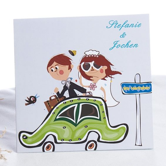 Comic Neuzugang Lustige Hochzeitskarten Lustige Einladungen