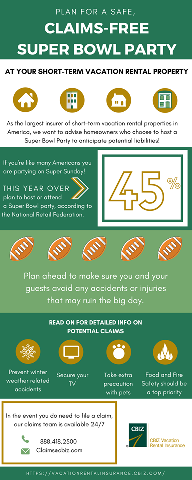 Is Your Property Hosting A Party For The Big Game On Sunday Make Sure You Study Our Playbook To Prep Your Rental For T Superbowl Party Super Bowl How To Plan