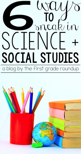 Finding time for content can be a real struggle in kindergarten and first grade....6 Ways to Sneak in Science and Social Studies in Primary Grades