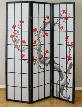 cherry tree shoji screen black decor pinterest shoji screen