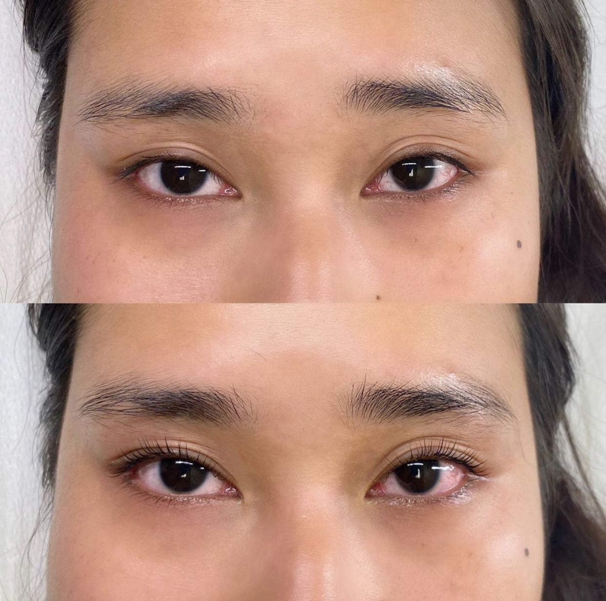 Lash Lift with Hooded Eyes Bronzed Humanity Lash lift