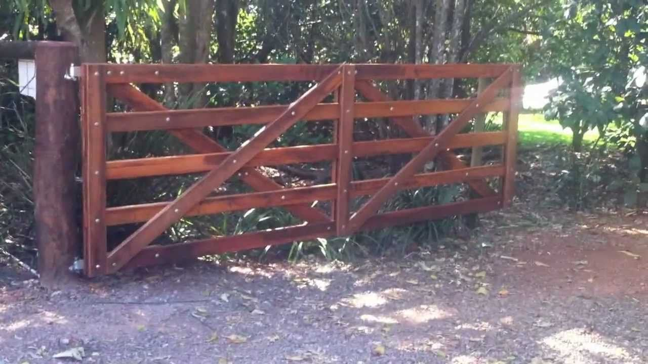automatic wooden farm gate youtube fence me in pinterest
