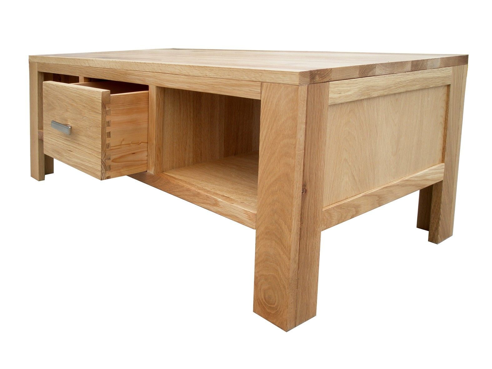 Solid Oak Coffee Table With 1 Drawer Solid Oak Coffee Table Oak Coffee Table Contemporary Table [ 1181 x 1575 Pixel ]