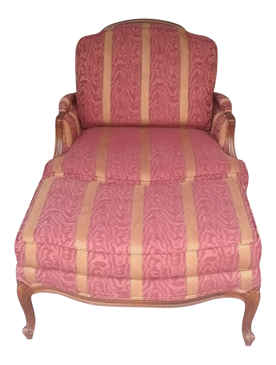 Etonnant Ethan Allen French Bergere Chair U0026 Ottoman On Chairish.com
