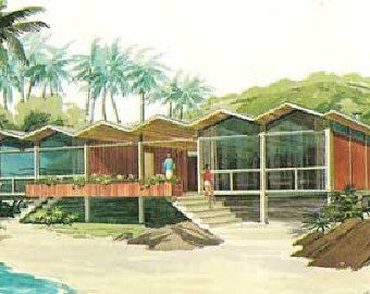 MID CENTURY MODERN Vacation home plans AFrames house design book