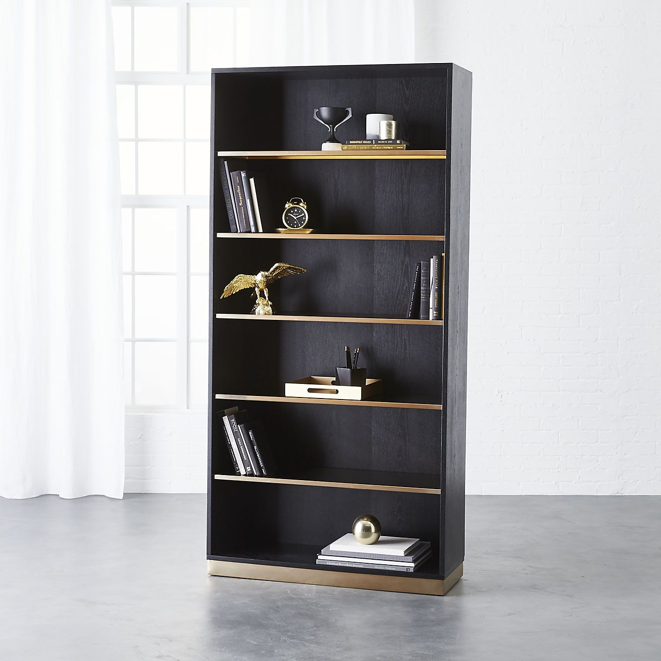 Best Linden Black Wood Bookcase Cb2 Bookcase Black 400 x 300