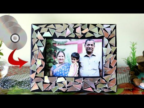 Recycle Old Cd Best Out Of Waste Ideas Photo Frame Making Photo