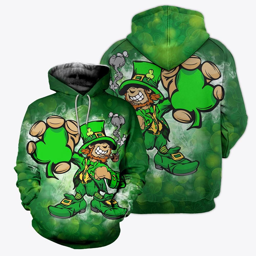 Mens 3D Printing Happy St Patricks Day Sweater Zip Hoodie