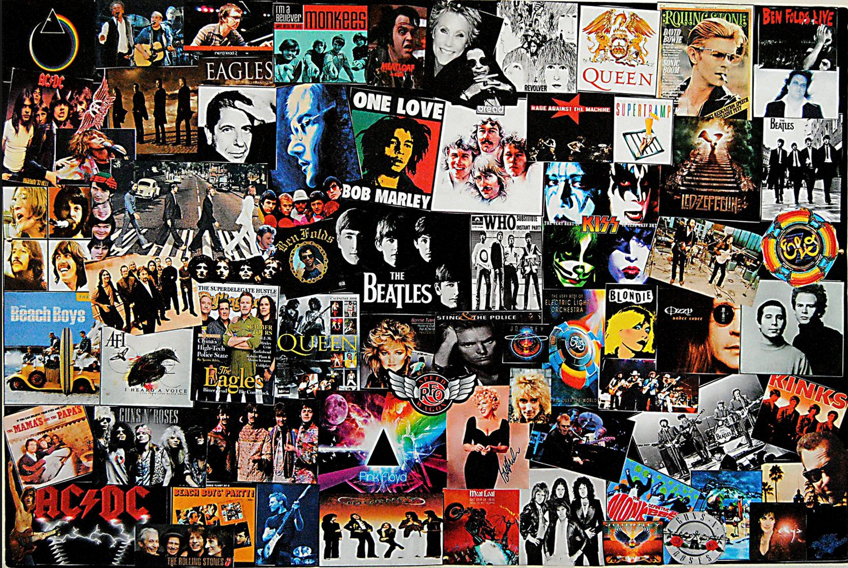 Collage of great albums Déviantart, Deco