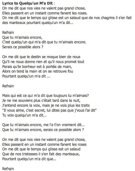J'entend La Musique Mais Pas Les Paroles : j'entend, musique, paroles, Belles, Chansons, Ideas, Lyrics,, Music, Songs